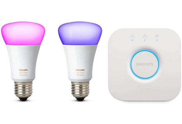 Philips Hue White and Color Ambiance Starter Kit 2 x E27 LED inkl. Bridge