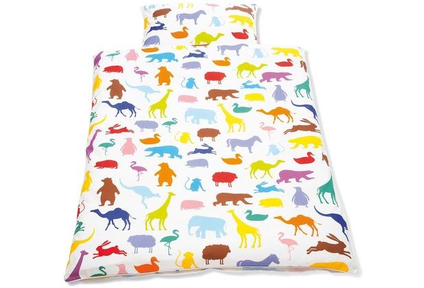 Pinolino Bettwäsche für Kinderbetten \'Happy Zoo\', 2-tlg.