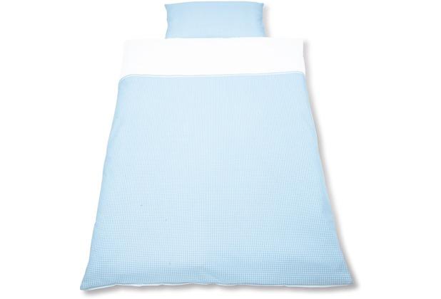 Pinolino Wendebettwäsche für Kinderbetten \'Vichy-Karo\', blau 2-tlg.