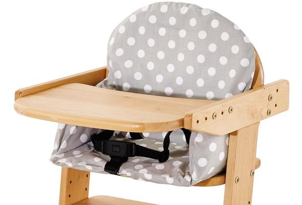 Pinolino Bezug für Sitzverkleinerer für Treppenstühle \'Punkte\', grau