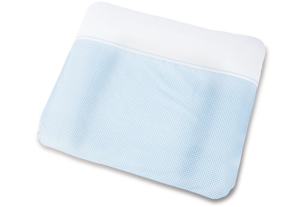Pinolino Bezug für Wickelauflagen \'Vichy-Karo\', blau