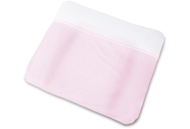 Pinolino Bezug für Wickelauflagen \'Vichy-Karo\', rosa