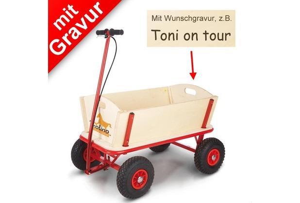 Pinolino Bollerwagen 'Til' mit Bremse MIT GRAVUR (z.B. Namen)