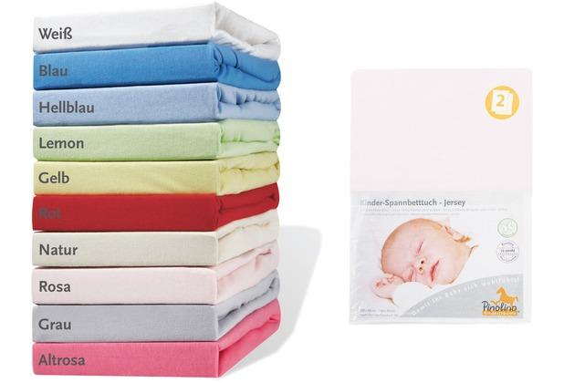 Pinolino Spannbetttücher für Kinderbetten im Doppelpack, Jersey, rosa