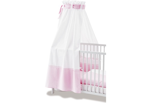 Pinolino Himmel für Kinderbetten \'Vichy-Karo\', rosa