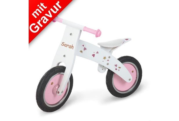 Pinolino Holz-Laufrad 'Pinky' für Mädchen MIT GRAVUR (z.B. Name)