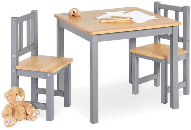 Pinolino Kindersitzgruppe \'Fenna\', grau/natur, 3-tlg.