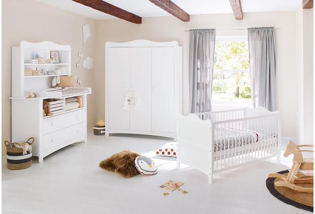 Pinolino Kinderzimmer \'Florentina\' extrabreit groß, inkl. extrabreitem Regalaufsatz