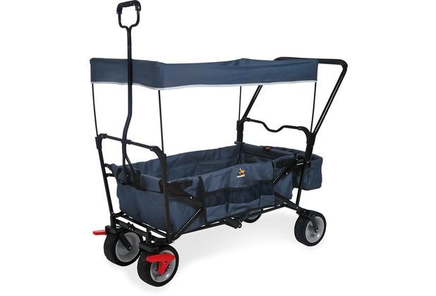 Pinolino Klappbollerwagen \'Paxi dlx Comfort\' mit Bremse, marineblau