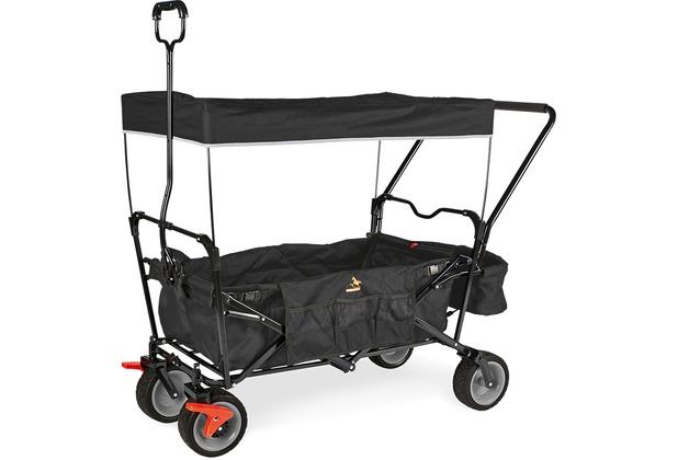 Pinolino Klappbollerwagen \'Paxi dlx Comfort\' mit Bremse, schwarz