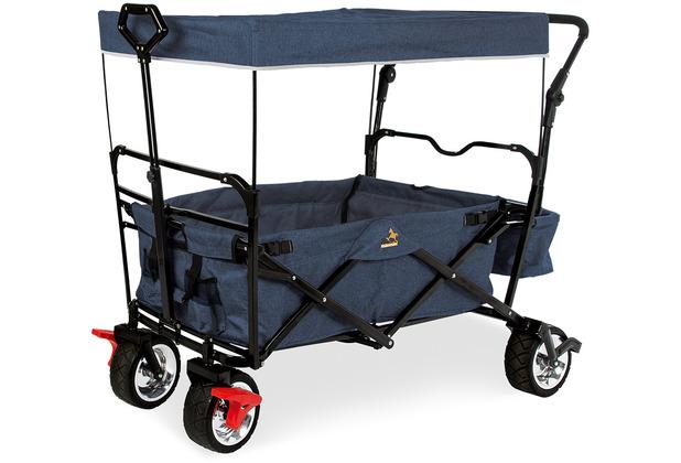 Pinolino Klappbollerwagen \'Paxi Style\' mit Bremse, marineblau meliert