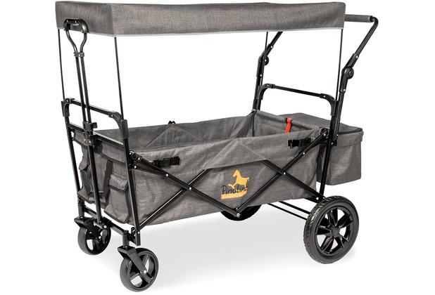 Pinolino Klappbollerwagen \'Piet Comfort\' mit Bremse, grau meliert