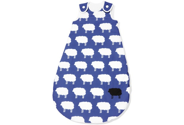 Pinolino Schlafsack \'Happy Sheep\', blau, Sommer, 70 cm