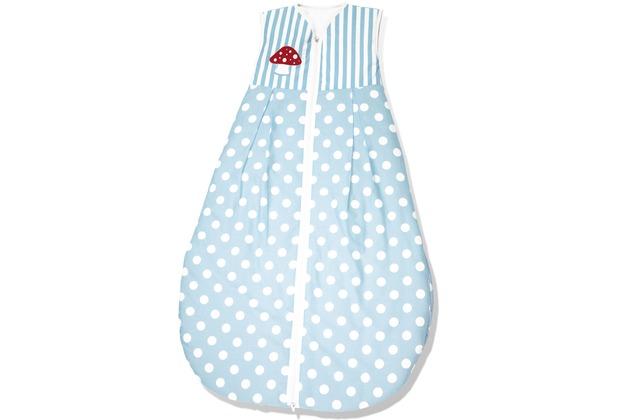 Pinolino Schlafsack \'Glückspilz\', blau, Sommer, 70 cm