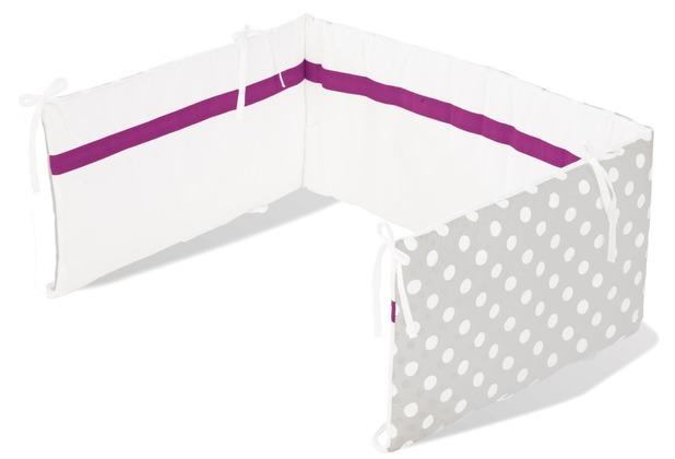 Pinolino Nestchen für Kinderbetten \'Punkte\', grau