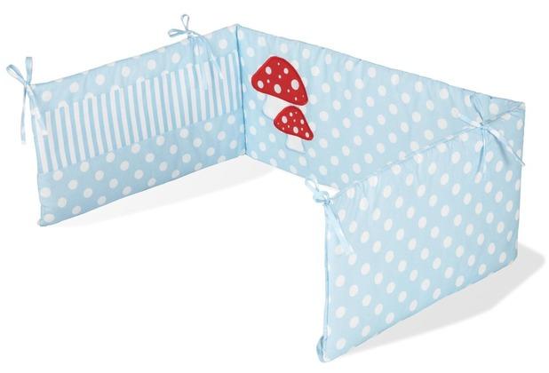 Pinolino Nestchen für Kinderbetten \'Glückspilz\', hellblau