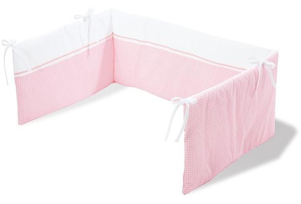Pinolino Nestchen für Kinderbetten \'Vichy-Karo\', rosa