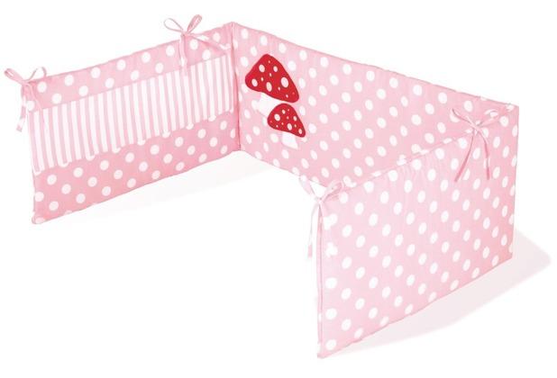 Pinolino Nestchen für Kinderbetten \'Glückspilz\', rosa