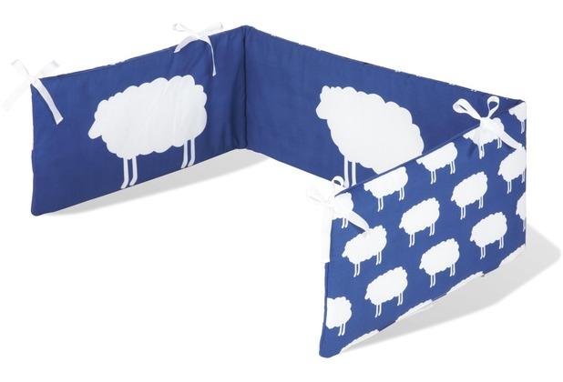 Pinolino Nestchen für Kinderbetten \'Happy Sheep\', blau