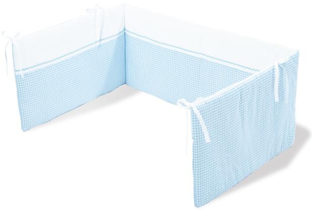 Pinolino Nestchen für Kinderbetten \'Vichy-Karo\', blau