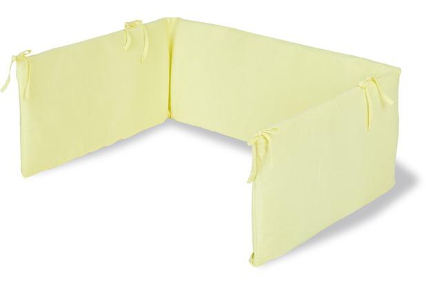 Pinolino Nestchen für Kinderbetten, Jersey, lemon