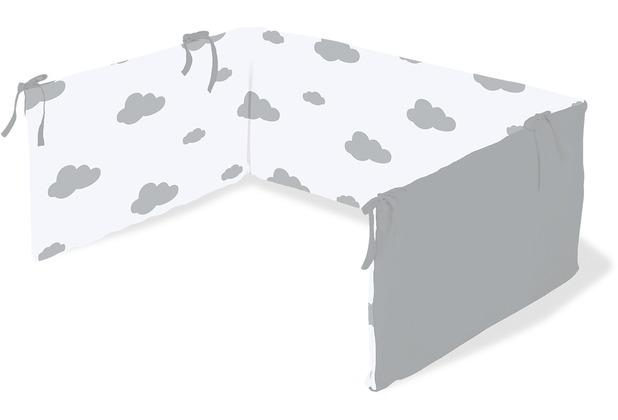 Pinolino Nestchen für Kinderbetten \'Wölkchen\', grau
