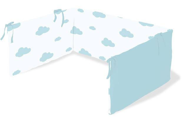Pinolino Nestchen für Kinderbetten \'Wölkchen\', hellblau