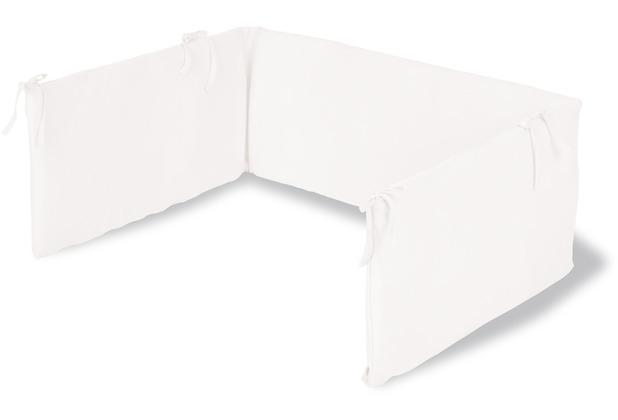 Pinolino Nestchen für Kinderbetten, Jersey, weiß