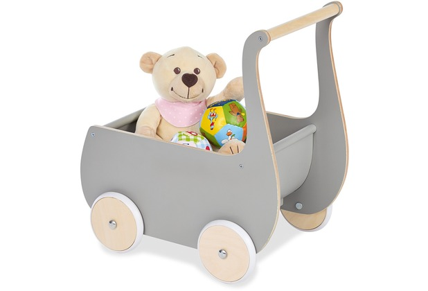 Pinolino Puppenwagen \'Mette\', grau