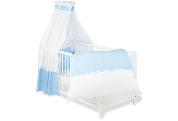 Pinolino Textile Ausstattung für Kinderbetten \'Vichy-Karo\', blau, 4-tlg.