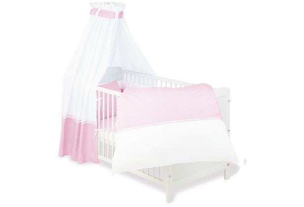 Pinolino Textile Ausstattung für Kinderbetten \'Vichy-Karo\', rosa, 4-tlg.