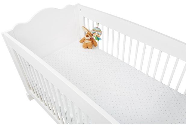 Pinolino Spannbetttücher für Kinderbetten im Doppelpack \'Sternchen\', Jersey, hellblau und Uni, weiß