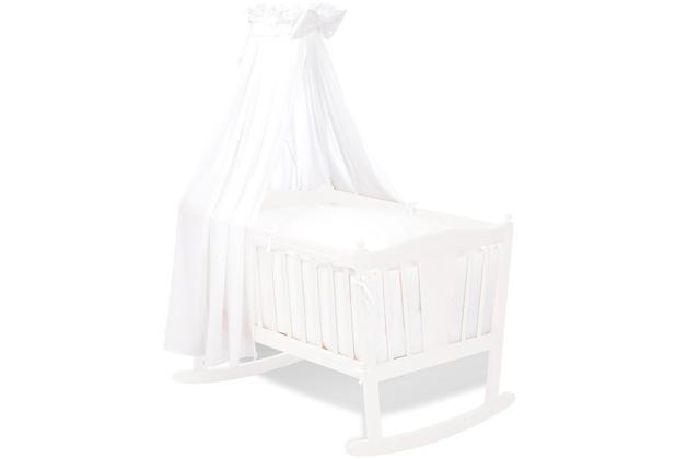 Pinolino Textile Ausstattung für Wiegen \'Voile\', weiß, 4-tlg.