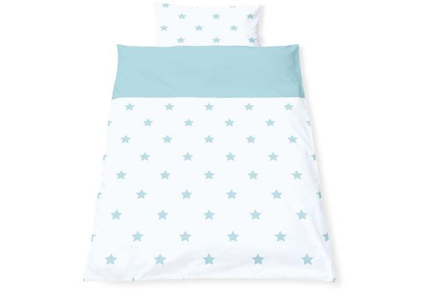 Pinolino Wendebettwäsche für Kinderbetten \'Sternchen\', hellblau, 2-tlg.