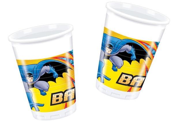 "PROCOS Plastikbecher mit Motiv \""Batman\"", 8 Stück 200 ml"