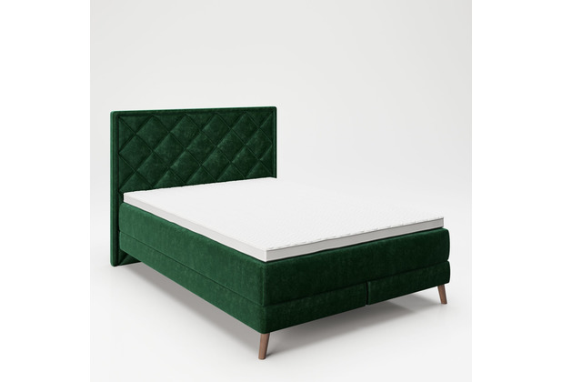 """PLAYBOY Boxspringbett \""""AUDREY\"""" grün, 140x200 cm"""