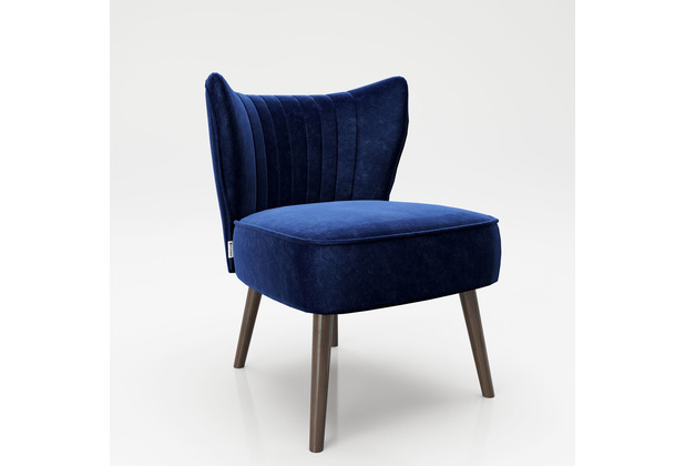"PLAYBOY Loungesessel ""HOLLY\"" Cocktailsessel Retro blau"