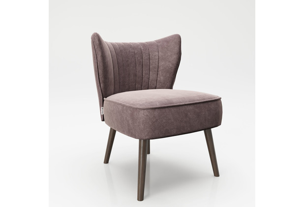 """PLAYBOY Loungesessel \""""HOLLY\"""" Cocktailsessel Retro rosa"""