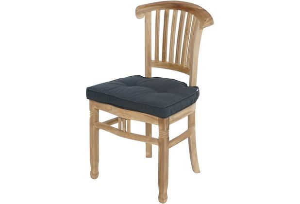Ploß Premiumpolster Manhattan, Anthrazit, Sitzkissen für Stuhl New Orleans