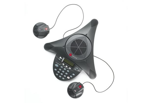 Polycom SoundStation 2 EX mit 2 Zusatzmikrofonen