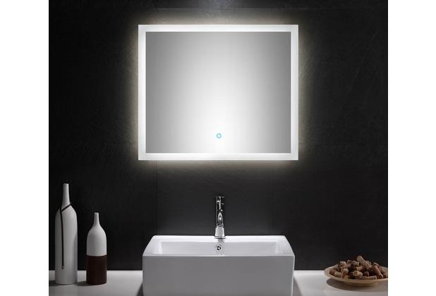 Posseik Badmöbel Set Carpo 70 S mit LED Spiegel, schwarz