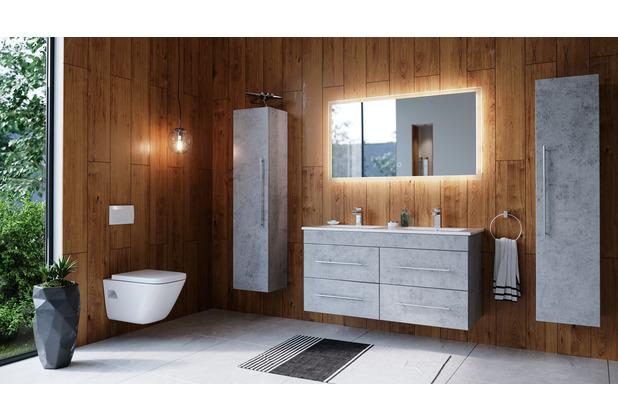 Posseik Badmöbelset ARGOS Beton inkl. LED Spiegel mit Touch-Funktion