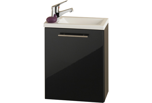 Posseik Handwaschplatz Alexo anthrazit, wandmontage