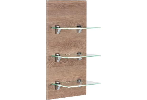 Posseik LED-Panel VIVA mit 3 Glasablagen eiche hell