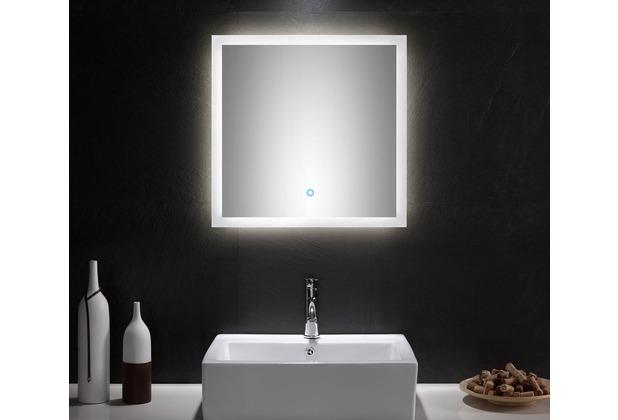 Posseik LED Spiegel 60x60 cm mit Touch Bedienung