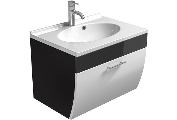 Posseik Waschplatz Salona anthrazit/weiss