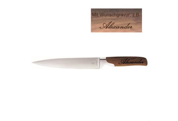 Pott Sarah Wiener Fleischmesser MIT GRAVUR (z.B. Namen) 18cm Walnussholz
