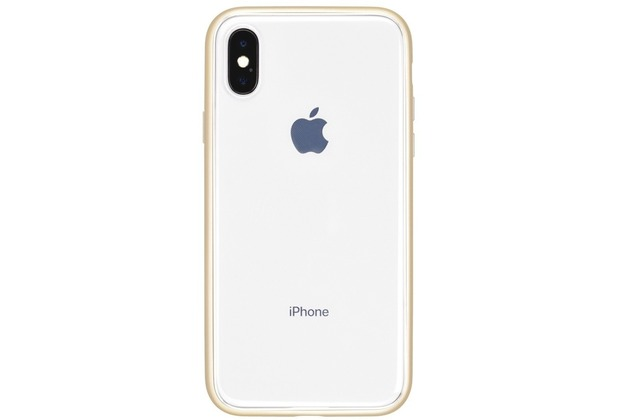 Power Support Shock Proof Air Jacket Apple iPhone X transparent/gold