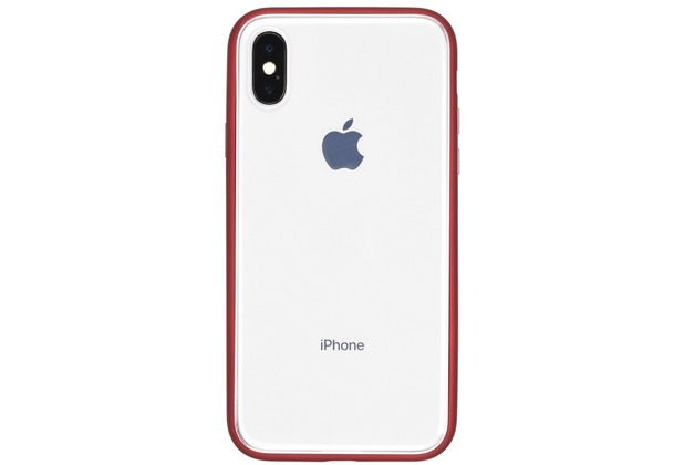 Power Support Shock Proof Air Jacket Apple iPhone X transparent/rot