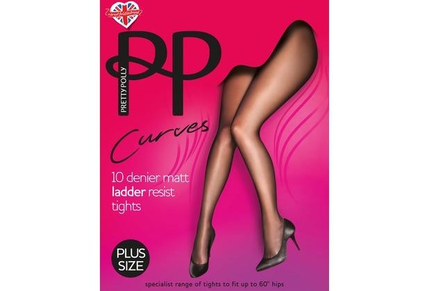 Pretty Polly Curves 10D Matt Run Resist Tights Black XXL